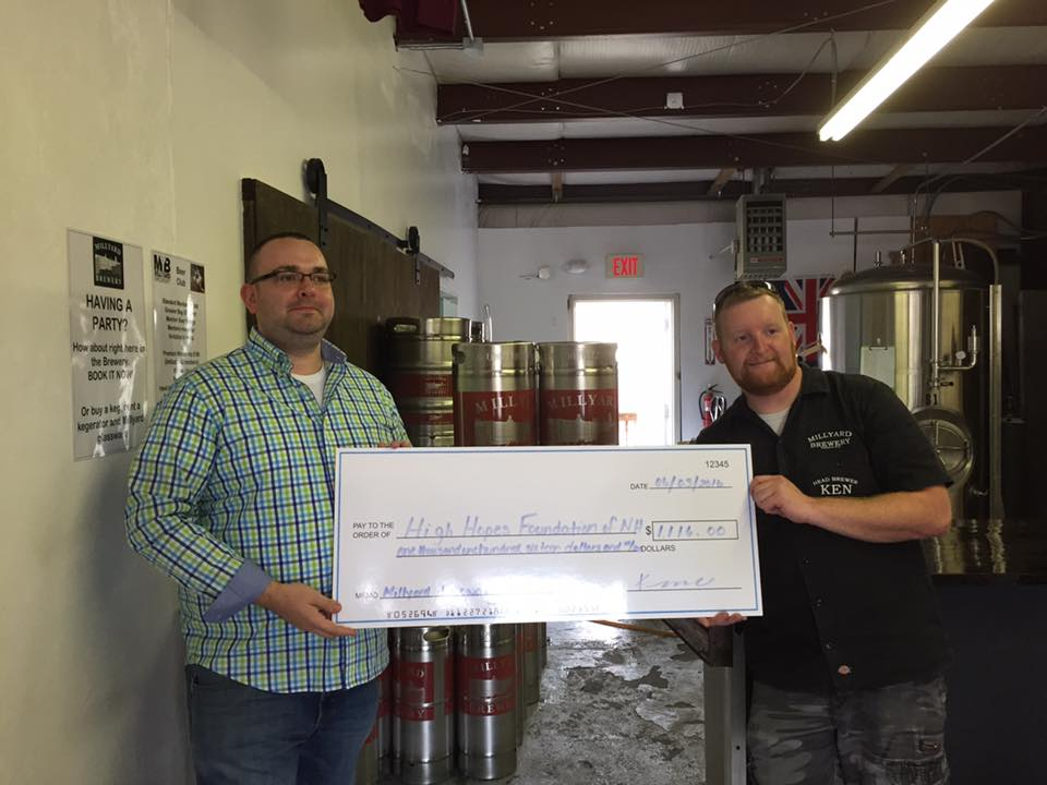 Millyard Brewry Giving Back